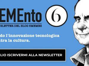 MEMEnto6 2020, la newsletter del Blog 6MEMES ha una nuova rubrica e tanti contenuti EXTRA!