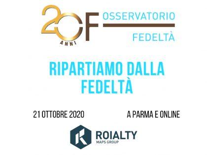 'Ripartiamo dalla fedeltà!': Roialty sponsor della XX° Edizione dell'Osservatorio Fedeltà