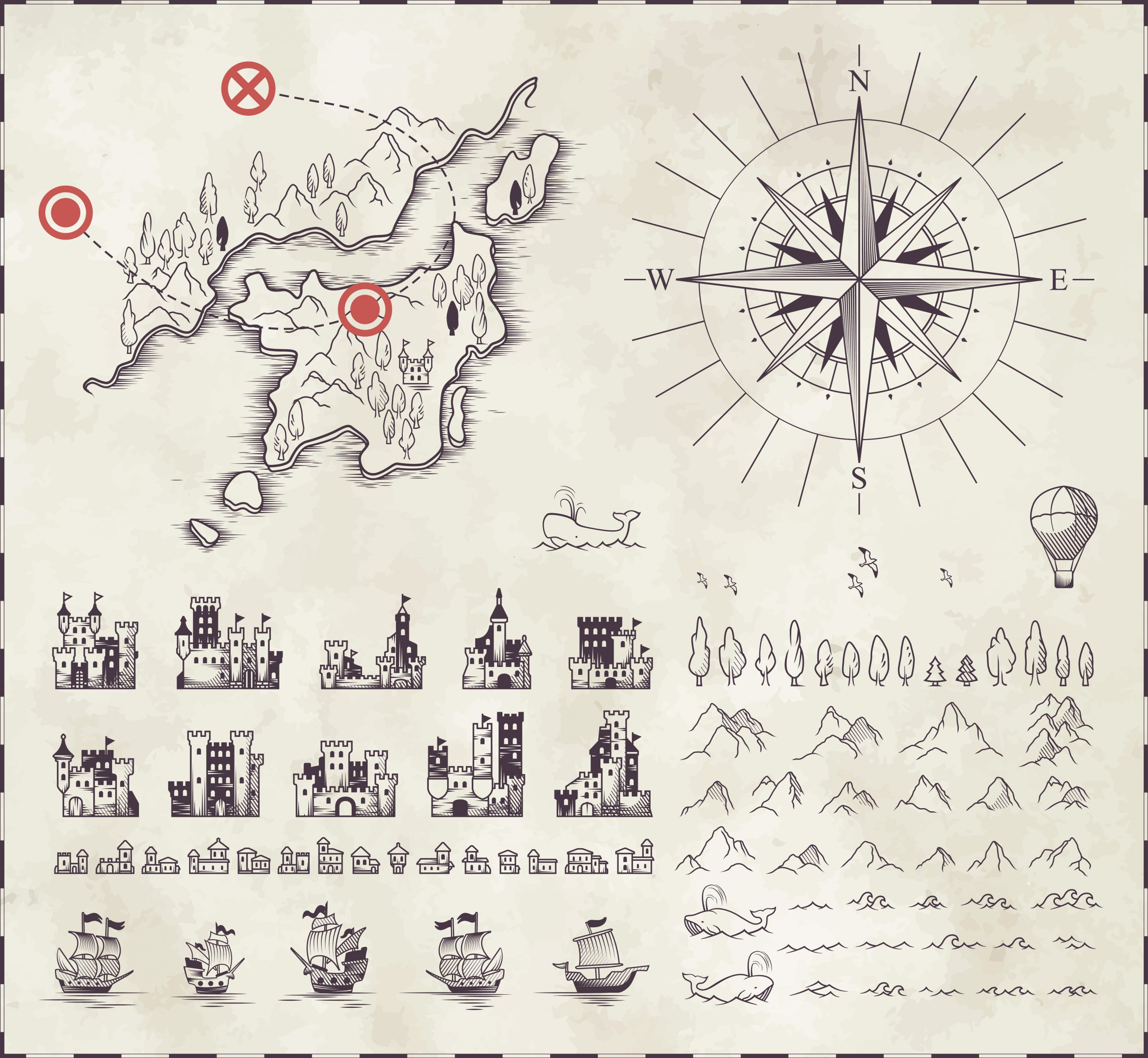 Set in medieval cartography